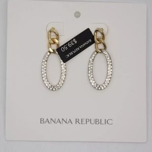 New Banana Republic Silver & Gold Drop Earrings♡